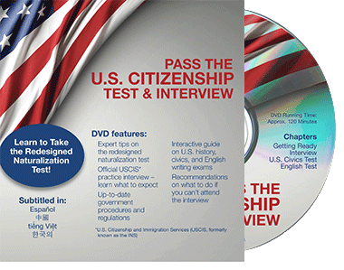 Pass the US Citizenship Test and Interview DVD